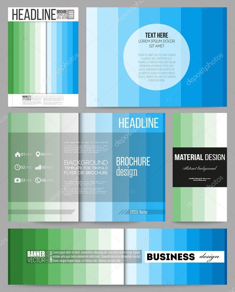 set of templates for presentation brochure flyer or booklet