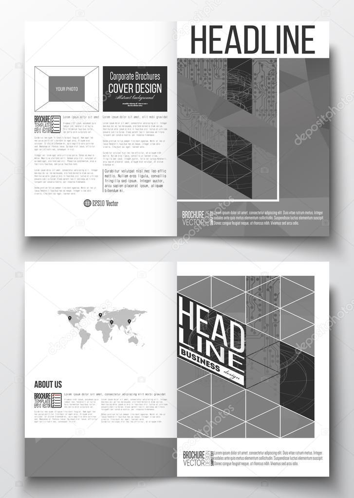 Satz von Business-Vorlagen für Broschüre, Magazin, Flyer, Broschüre ...