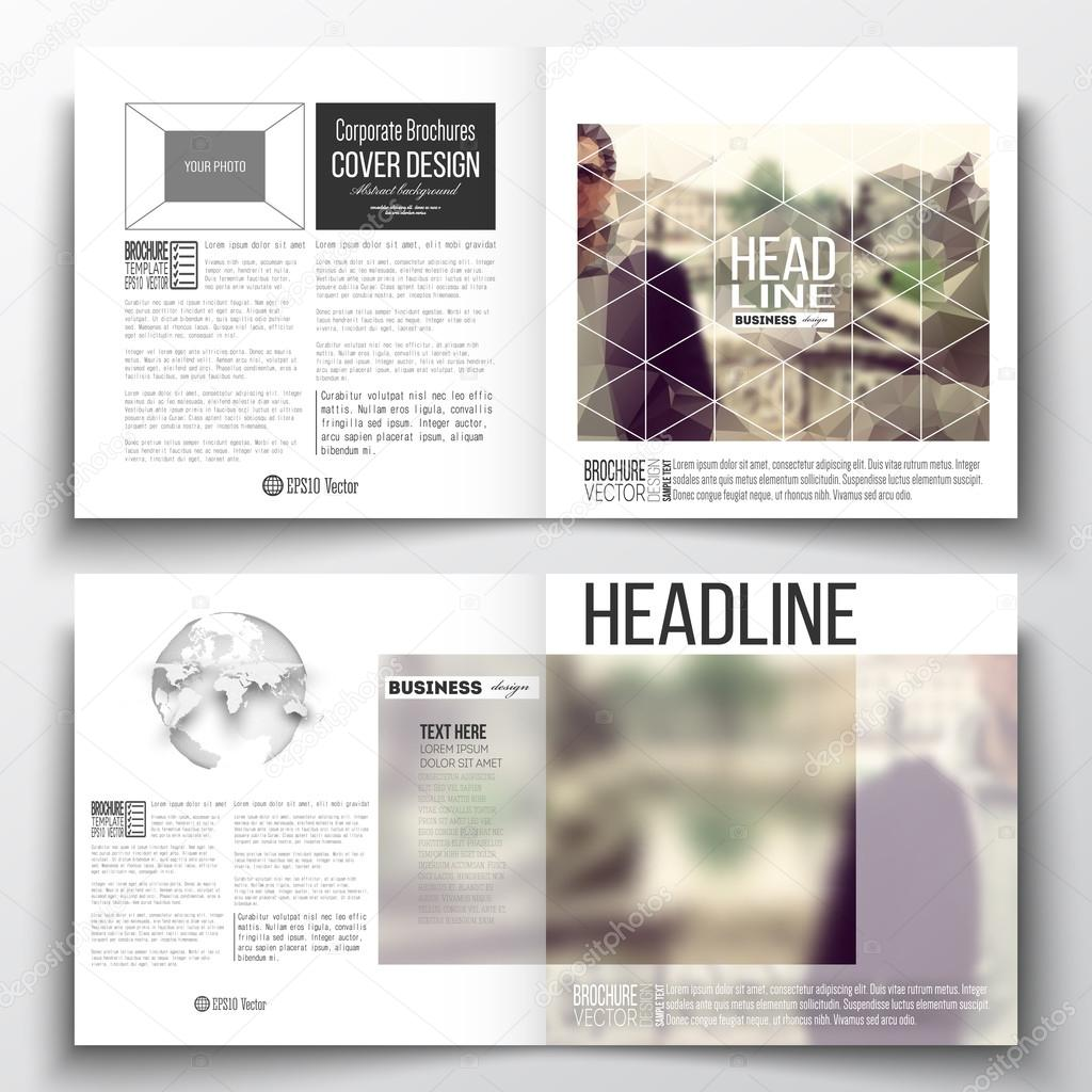 Satz von jährlichen Bericht Business-Vorlagen für Broschüre, Magazin ...