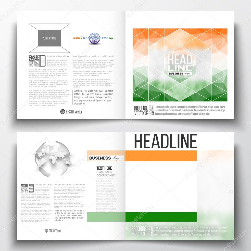 Set Of Annual Report Business Templates For Brochure Magazine