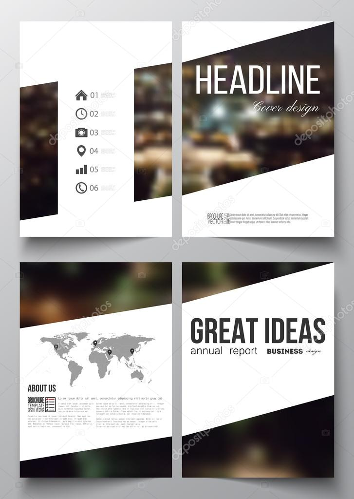 Set Of Business Templates For Brochure Magazine Flyer Booklet Or