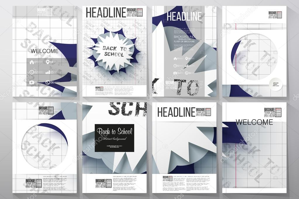 set of business templates for brochure flyer or booklet back to
