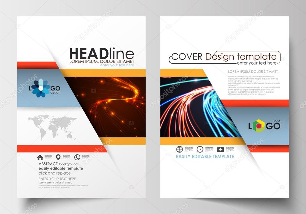 templates for brochure magazine flyer booklet or report cover
