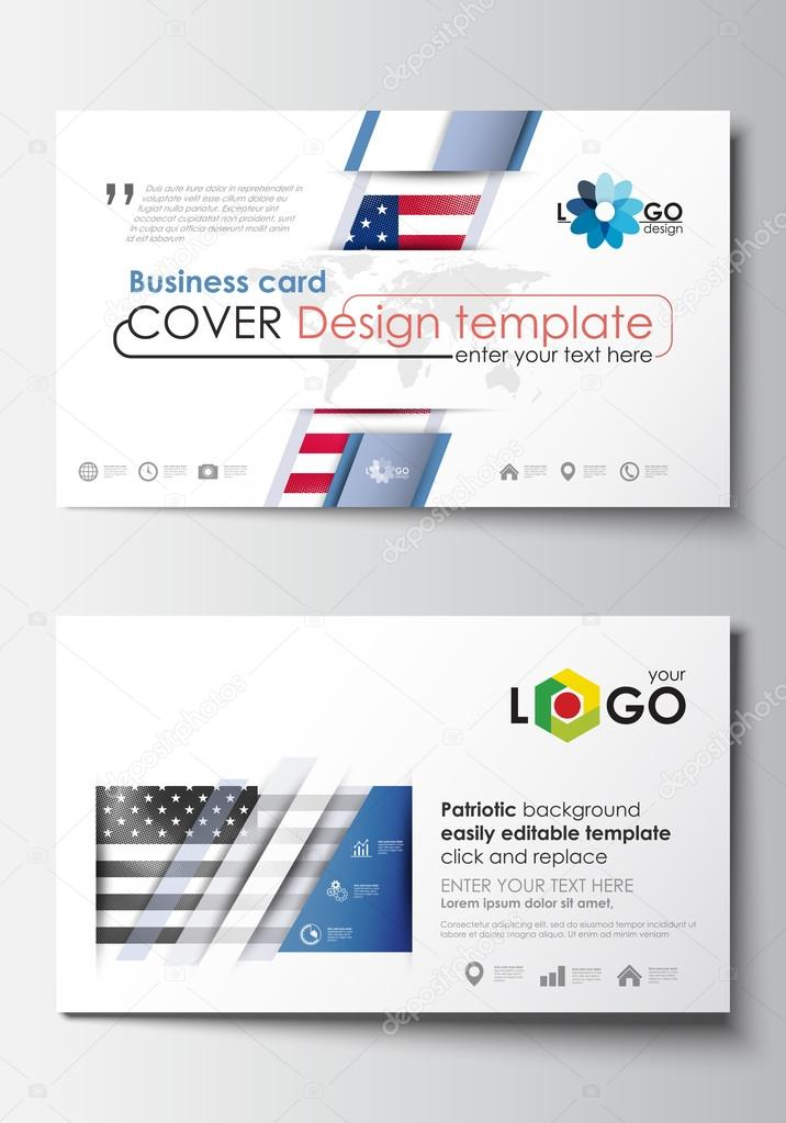 Business Card Templates Cover Design Template Easy Editable - Easy business card template