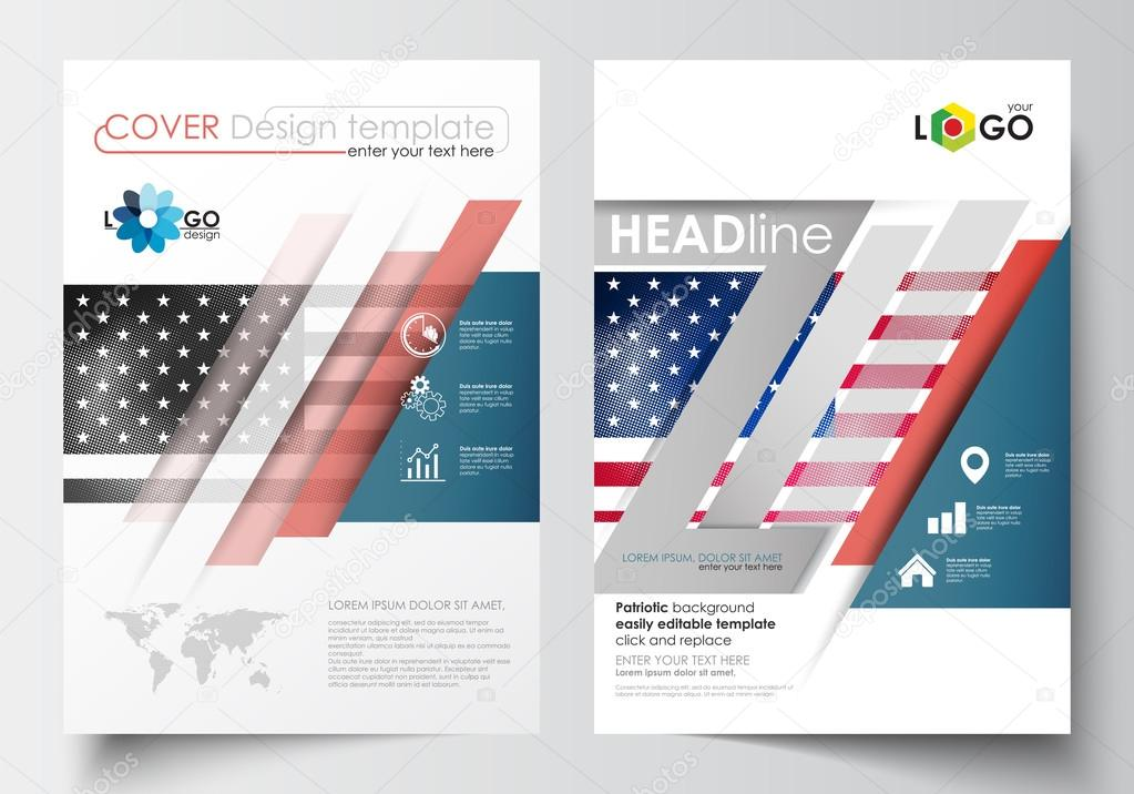 Business templates for brochure, magazine, flyer, booklet or annual ...