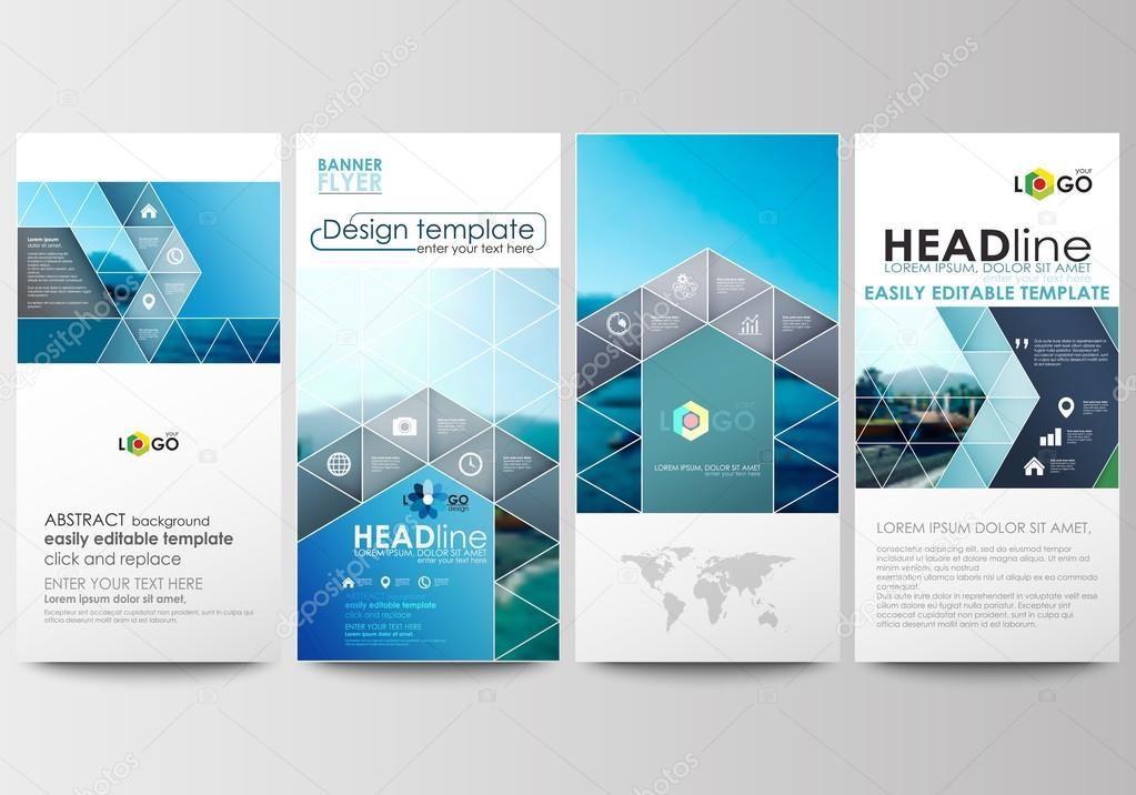Flyers set, modern banners. Business templates. Cover