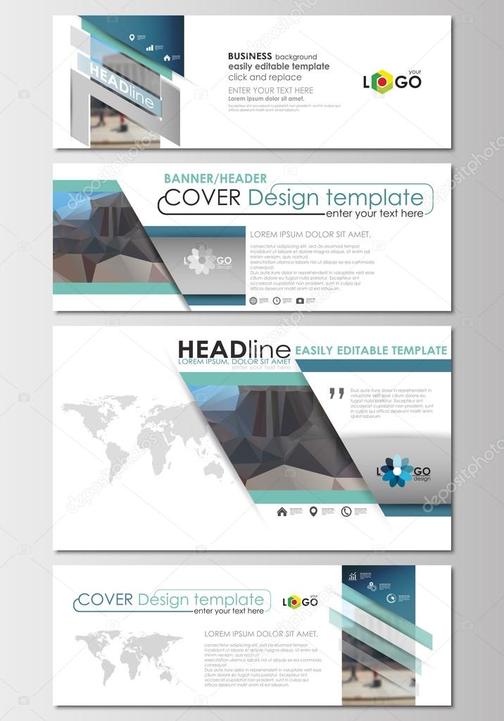 social media and email headers set modern banner templates cover design template easy. Black Bedroom Furniture Sets. Home Design Ideas