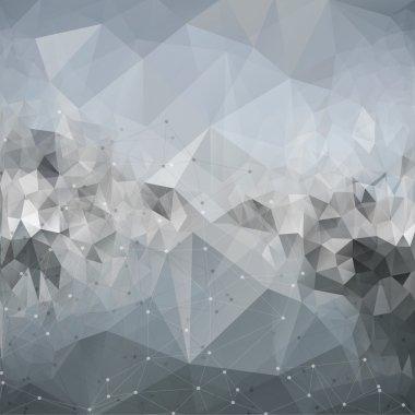 Molecule structure, background for communication, triangle design vector illustration