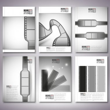 Film strips. Brochure, flyer or report for business, template vector