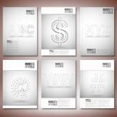 Tří dimenzionální mřížky stylové nápisy - abc, www, xyz. Brožury, letáku nebo zpráva pro podnikání, šablony vektorové