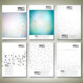 Struktura molekuly, propojovací síť. Brožury, letáku nebo zpráva pro podnikání, šablona vektor