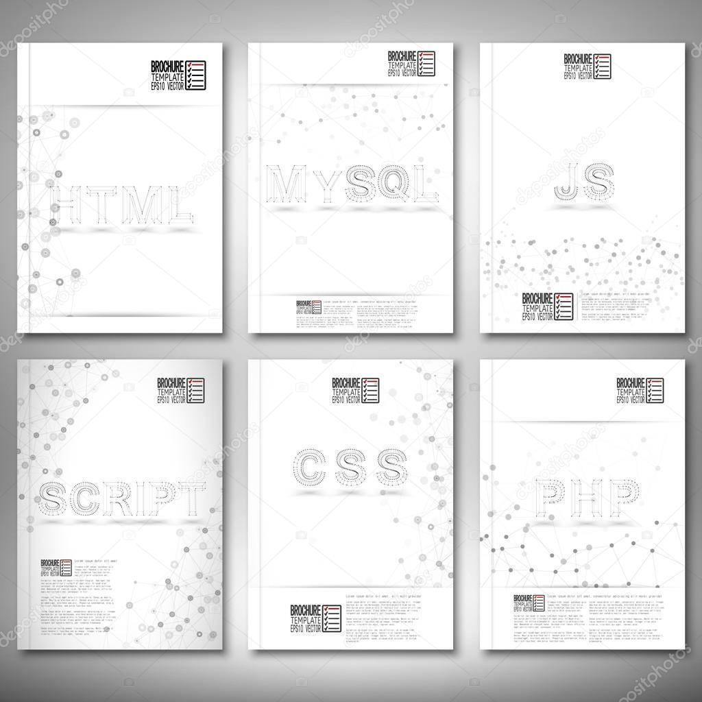 Tres dimensiones de acoplamiento elegante palabras-web, html, mysql ...