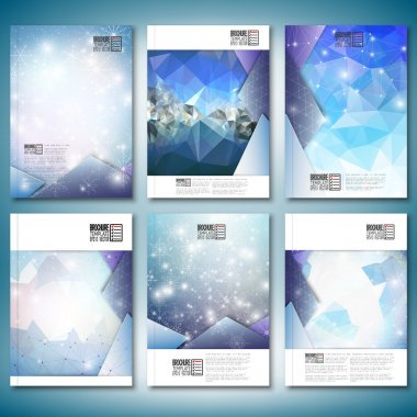 Abstract winter design background with snowflakes. Brochure, flyer or report for business, templates vector