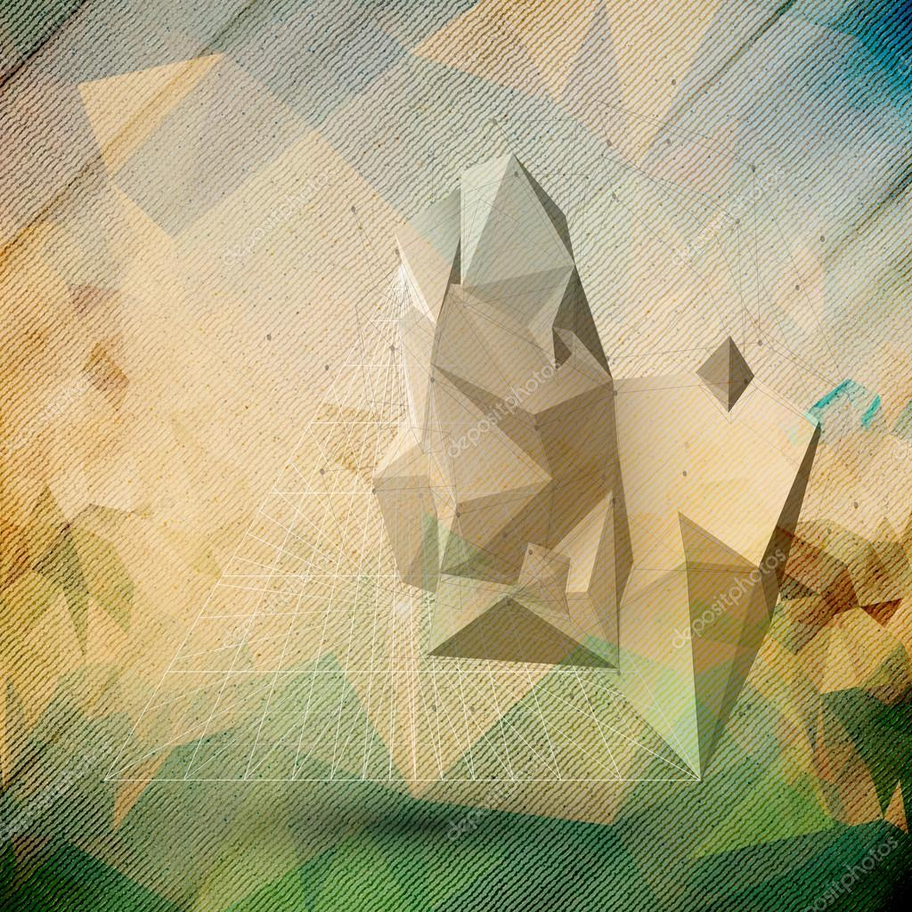Abstract 3d Pyramid Template For Business Or Science Design Stock