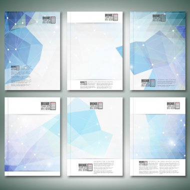 Abstract blue background. Brochure, flyer or report for business, templates vector
