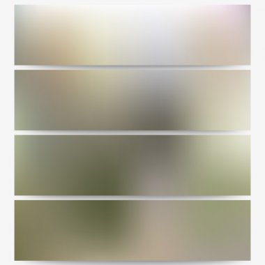 Abstract unfocused natural headers set, blurred design vector