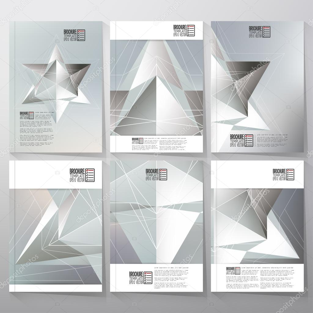 polygon pattern with the reflection minimalistic geometric facet