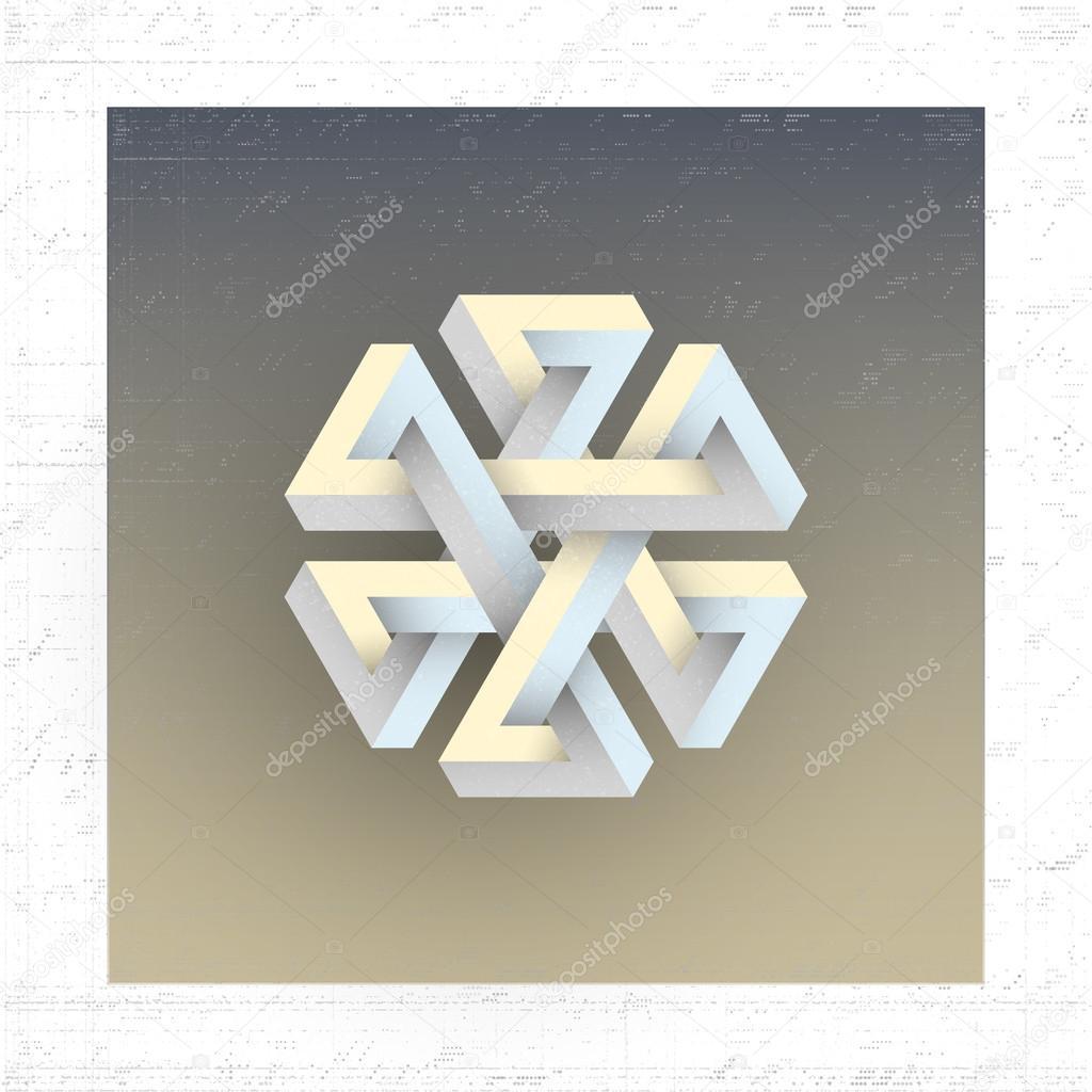 Figure g om trique impossible unreal l ment de vecteur - Figuras geometricas imposibles ...