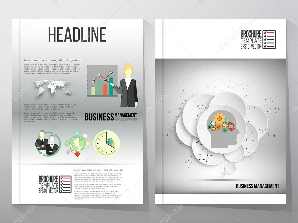 business vector templates brochure flyer or booklet gray