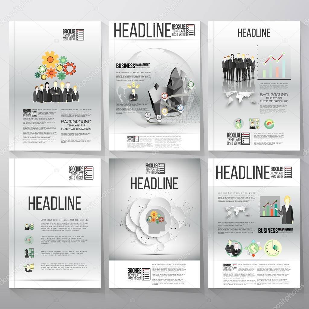 Business-Vektor-Vorlagen, Broschüre, Flyer oder Broschüre. Grauer ...