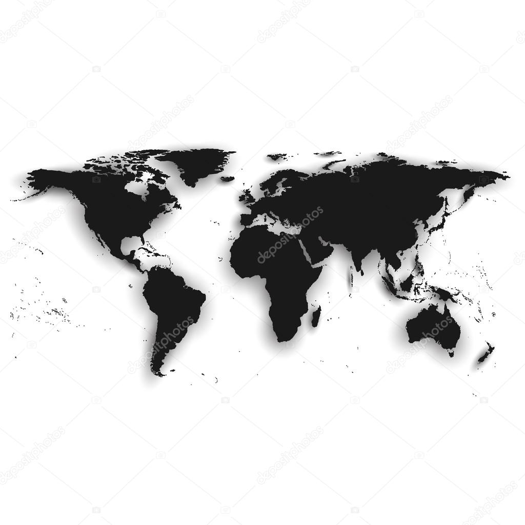 Detailed silhouette of black world map vector illustration vector detailed silhouette of black world map vector illustration vector de stock gumiabroncs