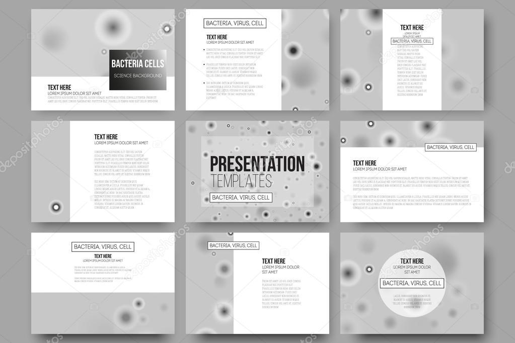 Set de 9 plantillas vectoriales para las diapositivas de la ...