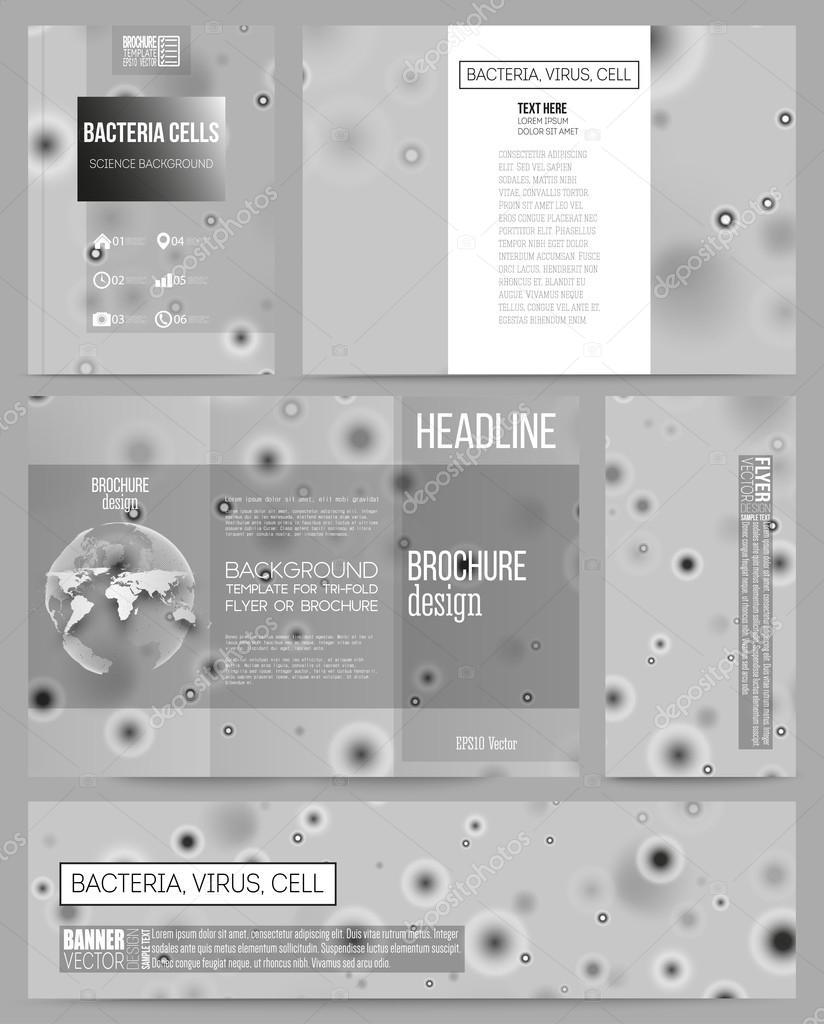 Conjunto de plantillas de negocio para la presentación, folleto ...