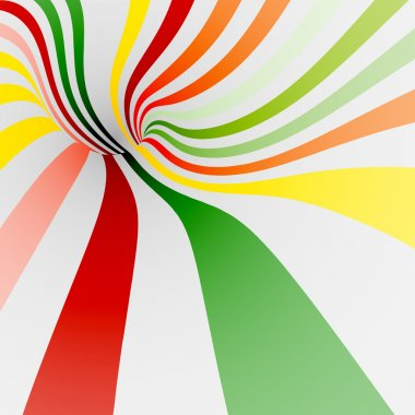 Colorful twisted shape for background of sweets