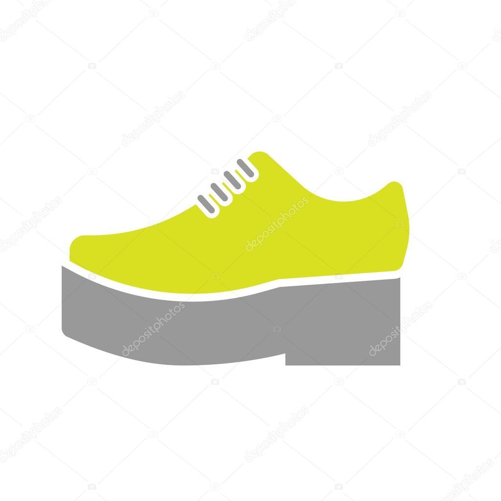 9edb88888e1 Ploché ikony ortopedické boty izolovaných na bílém pozadí. Vektorové  ilustrace — Vektor od ...