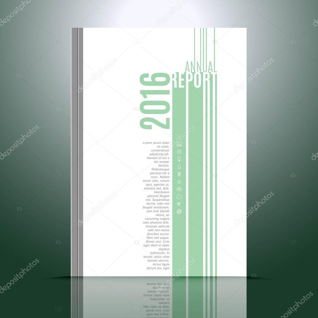 Design-Vorlage für den Geschäftsbericht — Stockvektor ...