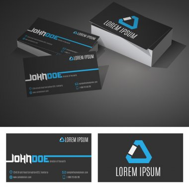 Business Card Background Design Template with Icons. Vector Illustration
