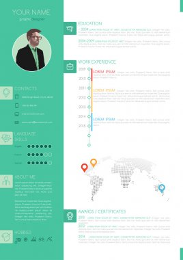 Vector Elegant Minimalist Style Resume - CV Template
