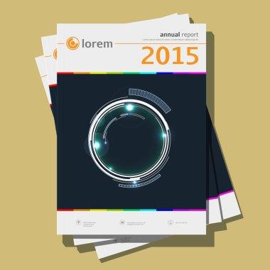 Annual report Design, vector Illustration
