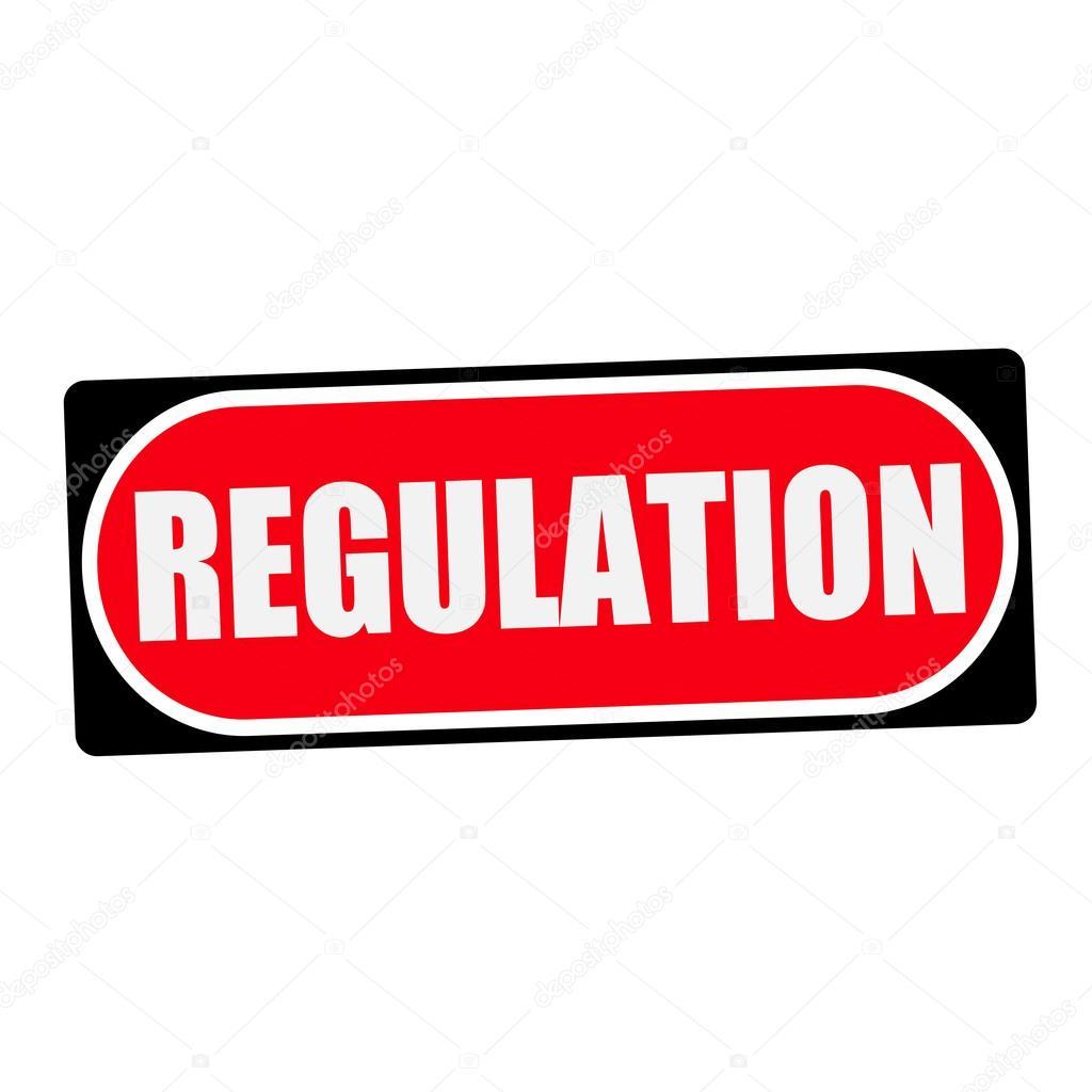 Verordnung weiß Wording auf roten Hintergrund Rahmen schwarz ...