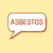 Azbestové oranžové formulace na komiksové bubliny pozadí žluto-bílá