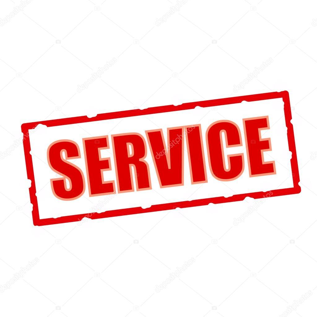 Servicio redacción en astillas signos rectangulares — Fotos de Stock ...