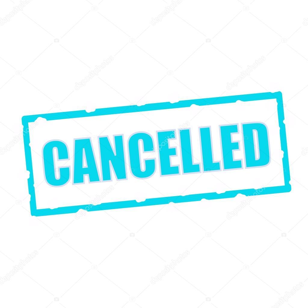 cancelada la fraseología en astillas signos rectangulares azul ...