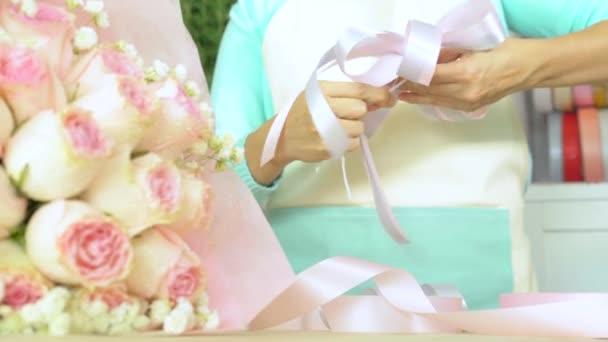 Virágbolt, csokor, virágüzlet, virágos íj így keze megszervezése