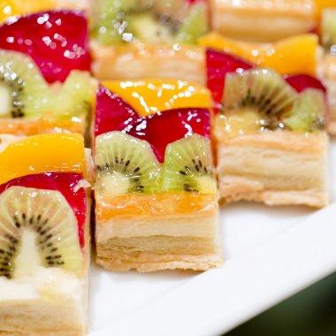 """Картина, постер, плакат, фотообои """"еда, которую едят руками, десерт и фруктовый коктейль"""", артикул 65333669"""