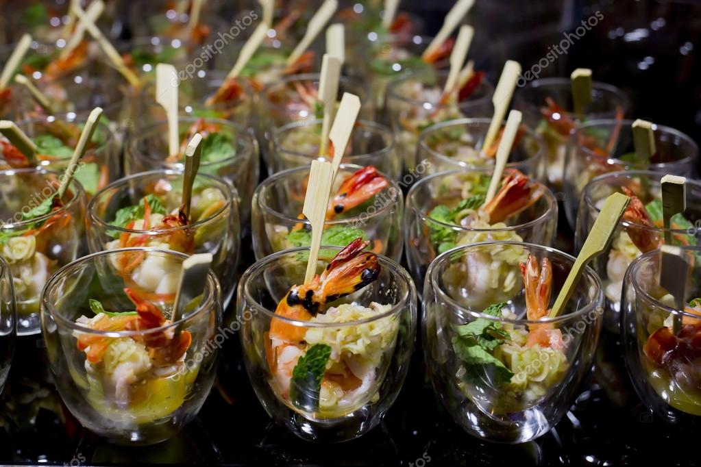 finger food in small glass with stick stock photo art9858 78721794