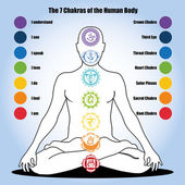 Photo seven chakras of the Human body