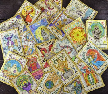 Pile of tarot cards