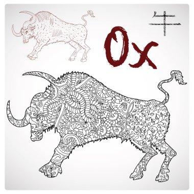 Chinese zodiac symbol of Ox