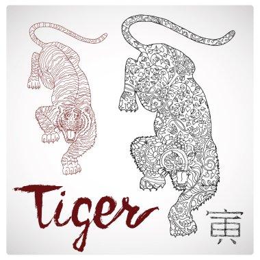 Chinese zodiac symbol of Tiger