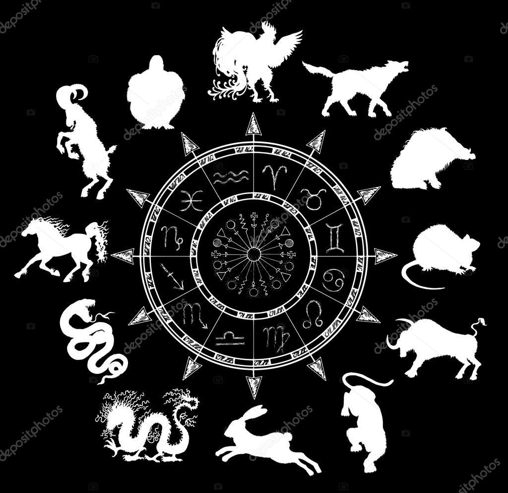 Horoscope Symbols And Chinese Zodiac Animals