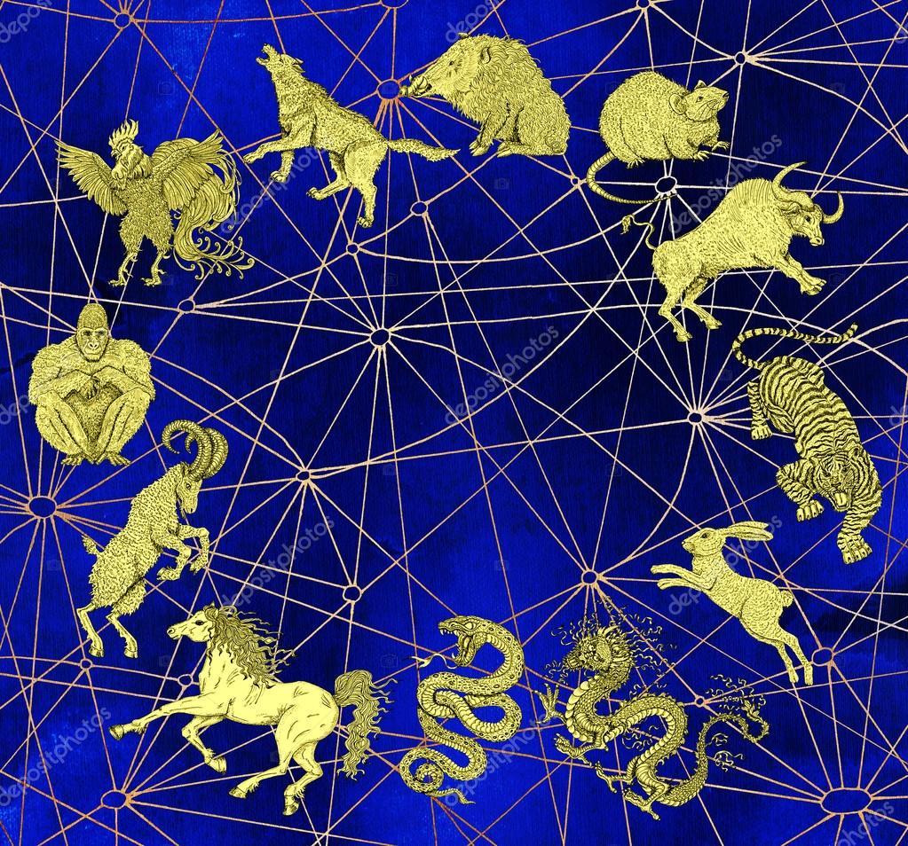 Background with chart of twelve zodiac animals — Stock Photo ... on world map pacific rim, world map gravity, world map pride, world map dog, world map pig, world map cancer, world map switzerland, world map wild, world map troy, world map jurassic world, world map virgo, world map fire, world map everest, world map black and white, world map capricorn, world map heat, world map identity, world map 300, world map wyoming, world map flight,