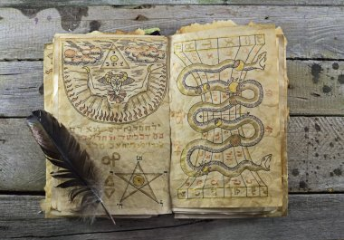 Magic book , Halloween still life
