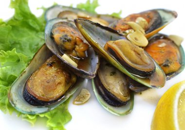 Prepared oysters in vinegar