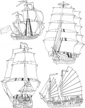 Ancient vessels set