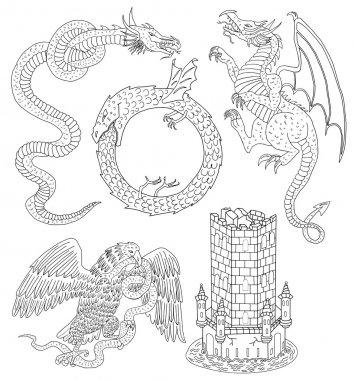Medieval mythological creatures